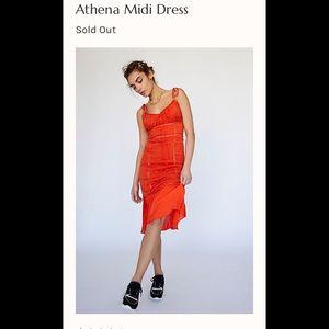 NWT Free People Athena Midi Dress Sz 4 or 12